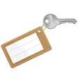 key with blank text label vector image