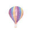 watercolor hot air balloon on white vector image