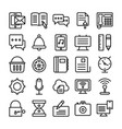 web design line icons 2 vector image