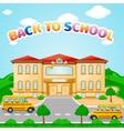 school building for back to school vector image