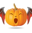 funny pumpkin2 vector image vector image