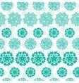 Abstract green decorative circles stars striped vector image