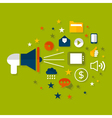 Advertising a megaphone vector image vector image