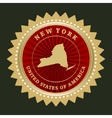 Star label New York vector image