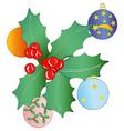 Christmas garland and Christmas balls vector image