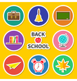 back to school round set icon vector image