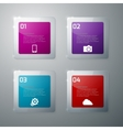 infographics glass squares vector image