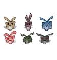 Rabbit head icons vector image