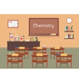 flat of chemistry lassroom at vector image