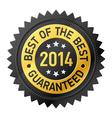 Best of the Best 2014 label vector image