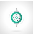 Dial gauge flat color design icon vector image