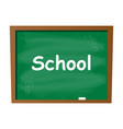 empty blank school green chalkboard isolated vector image