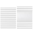 Folded blank white paper vector image