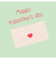 Happy valentines day design template envelope vector image