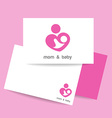 mom and baby logo identity vector image
