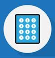 of safety symbol on keypad vector image