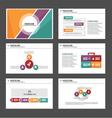 Orange purple green presentation templates set vector image