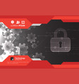 protection concept protect mechanism system vector image