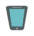 smartphone blue screen technology gadget sketch vector image