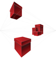 gift boxes in two-point perspective vector image vector image