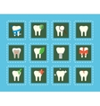 Teeth icons with various elements vector image
