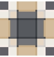 Geometric sand tile plaid vintage seamless pattern vector image