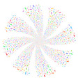 musical note fireworks swirl rotation vector image