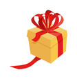 gift box isolated ribbons and bows present vector image
