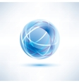 water blue abstract globe icon vector image