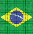 The mosaic flag of brazil vector image