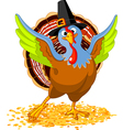 of happy thanksgiving turkey vector image