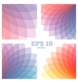 Abstract geometrical backgrounds set vector image