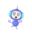 Excited Smiling Robot vector image