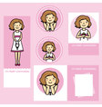 set first communion girl vector image