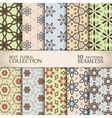 Abstract floral backdrops collection vector image