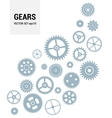 Gear Icon Set Isolated gears - vector image