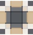 Geometric sand tile plaid vintage seamless pattern vector image