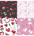 Valentine dayweddingloveSeamless pattern set vector image