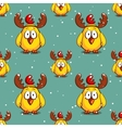 Funny Chicken Winter Pattern vector image