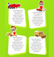 banner with funny cartoon kids template vector image