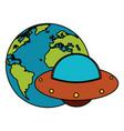 earth world ufo image vector image