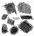 ink lines of pen in scribble style hand drawn set vector image