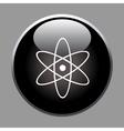 Molecule icon on black button vector image