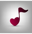 Heart shaped musical note vector image vector image
