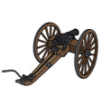 Historic wooden cannon vector image