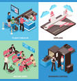airport departure concept isometric design vector image
