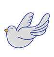 cute dove animal peace symbol vector image