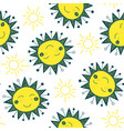 cute sun seamless pattern vector image