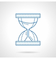 Flat blue line hourglass icon vector image