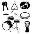 icons of shock musical instruments vector image